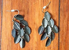 A close--up of my favorite fall earrings